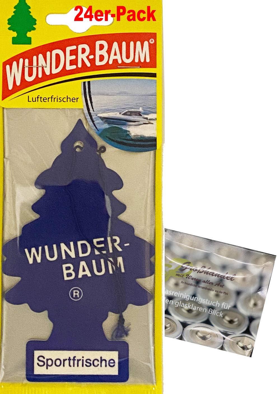 Wunderbaum 24er Box Original Lufterfrischer Everfresh Duftbaum Inkl 1 X Glasreinigungstuch Von Sp Großhandel Gratiszugabe Auto