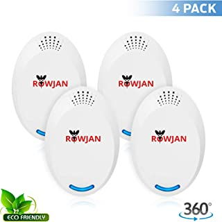 Rowjan Ultrasonic Pest Repeller Electronic Plug Indoor Pest Repellent, Pest Control for Mice, Mosquito, Ant, Spider, Bug, Roach, Human and Pet Safe