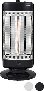 [山善] 速暖カーボンヒーター&遠赤外線シーズヒーター搭載 ツインヒートプラス(1200W/900W/300W 3段階切替) 自動首振り機能付 ブラック DBC-J122(B) [メーカー保証1年]