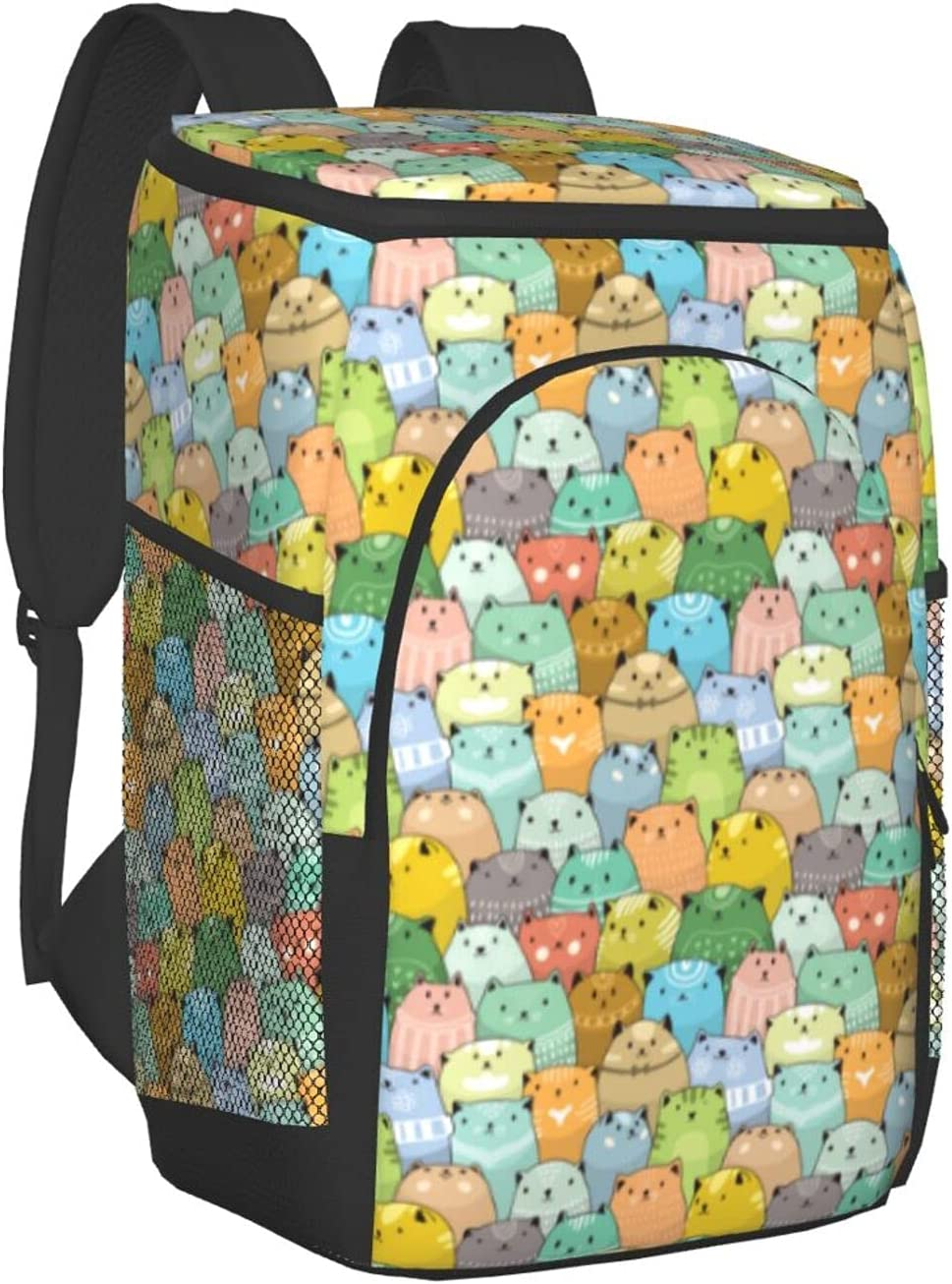 Black Max 48% OFF Rhombuses Insulated Backpack Leakproof Bag Po Cooler Small Choice