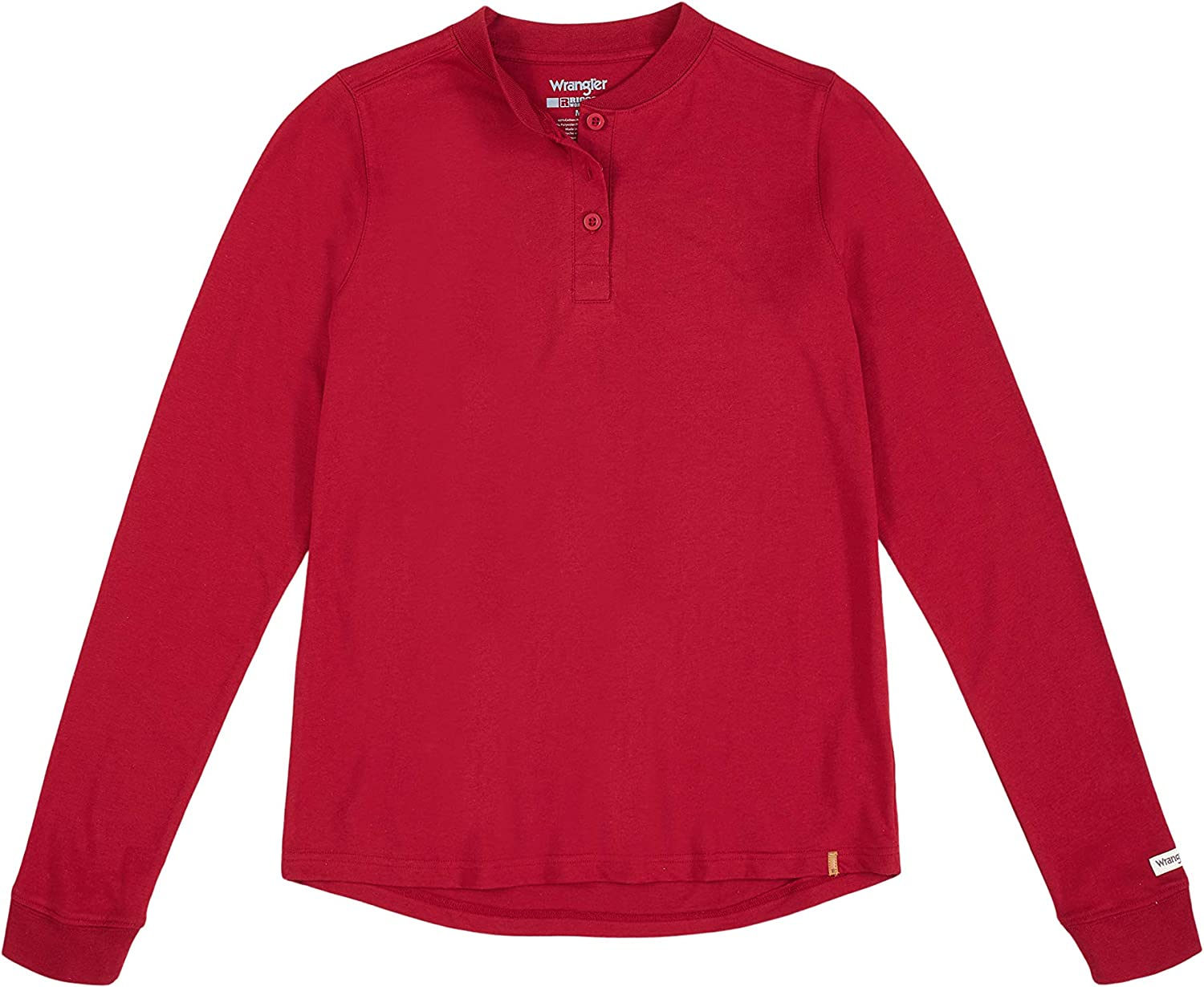 Wrangler Riggs Workwear Women's Long Sleeve Henley: Clothing, Shoes & Jewelry