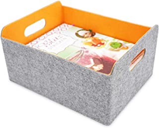 ENDLESS FUNCTIONS - Collapsible Storage Basket with Handles - Pumpkin