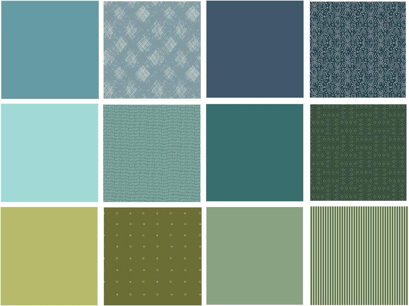 Solid and Special price for a limited time 2021 new Textured Fat Quarter Fab Blue Green Bundle