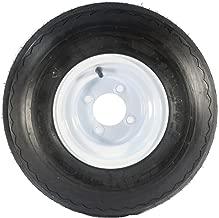 eCustomRim Golf Cart Tire On Rim - 18 X 8.5 X 8 18-850-8 18X8.50-8 White Wheel 4 Lug 18