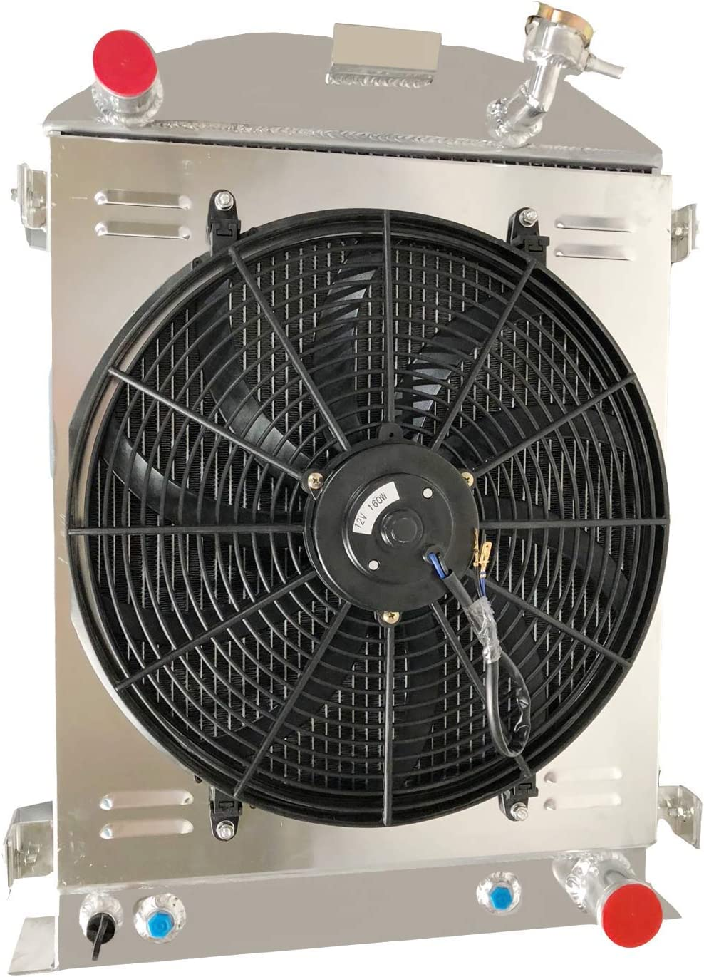 Department High quality new store CoolingCare 4 Row Aluminum Radiator 1930-19 for Shroud+ 12''Fan