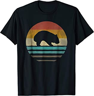 Retro Vintage Wombat Silhouette Shirt Funny Animal Biology