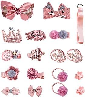 pink  flower Plastic girl Barrette clip bow Accessoriesm