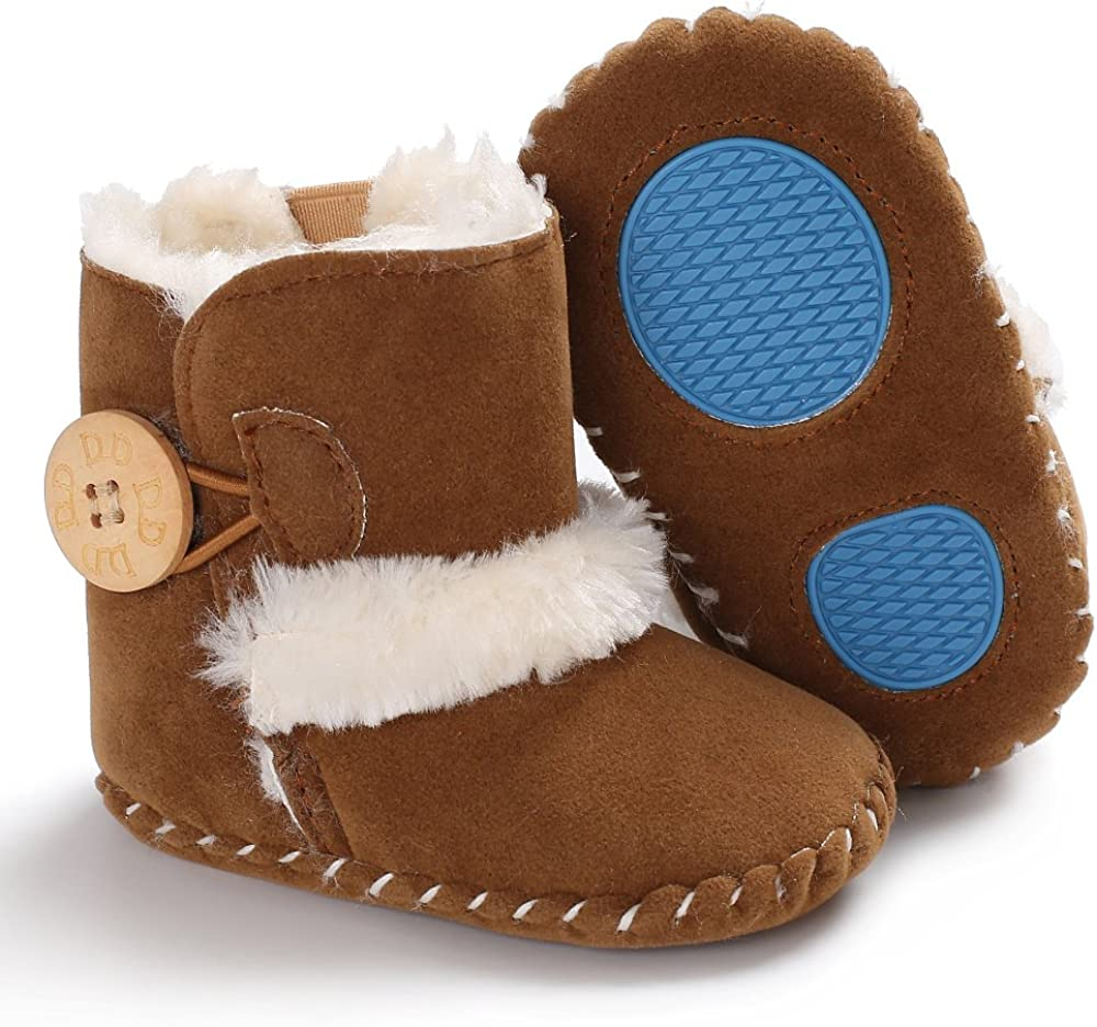 Winter Warm Baby Girls Boys Boots Premium Soft Sole Prewalker Newborn Infant Baby Crib Shoes Snow Boots