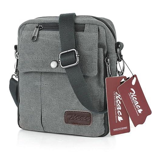 Koolertron Fashion Unisex Men s Women s Retro Lightweight Small Canvas  Cross Body Everyday Satchel Bag Messenger Bag fea19fbd1e409