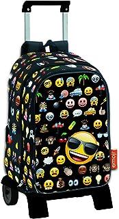 Icon - Mochila de bolsillos intercambiables emoticonos con carro extraíble plegable