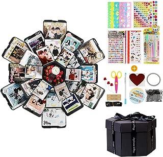 BelleStyle Caja de Regalo Creativo de Bricolaje Libro de Recuerdos Caja de Explosiones DIY Scrapbooking Album Memory Álbum para cumpleaños Aniversario Boda San Valentín Día de la Madre Navidad