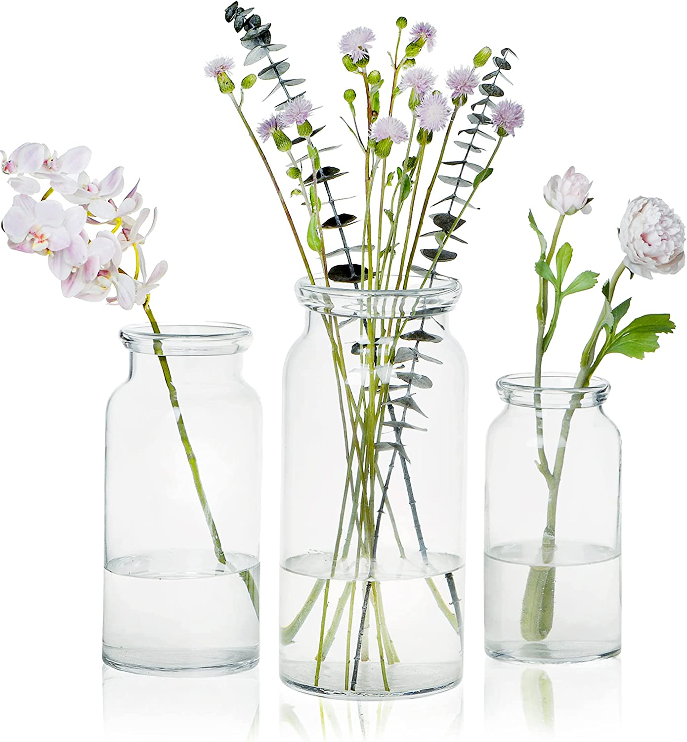 CASAMOTION Glass Brand new Vase Special price for Flower Blown Rustic Decor Hand Modern