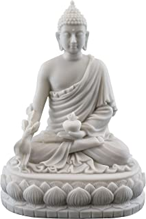 Top Collection Medicine Buddha Statue Buddha of Healing Sculpture in White Marble Finish - 5.5-Inch Collectible Figurine