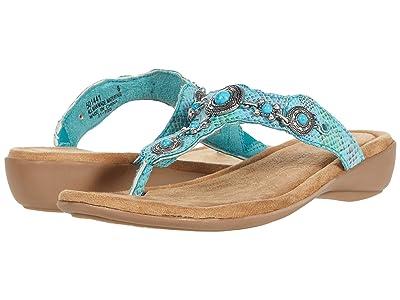 Minnetonka Boca Thong III (Turquoise Multi Snake PU) Women