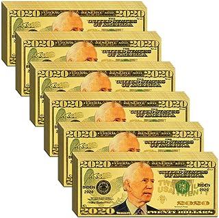 Vanproo 1000 Dollar Joe Biden Bill Banknote, Build Back Better One Thousand 24k Gold Coated Joe Biden Legacy Limited Editi...