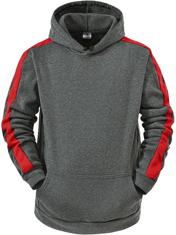 Men's Hoodies Pullover, Men's Hipster Hip Hop Hoodie Colorblock Soft Hoody Casual Long Sleeve Warm Sweatshirts Pockets