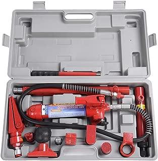 Goplus 4 Ton Porta Power Hydraulic Jack Air Pump Lift Ram, Auto Body Frame Repair Tool Kit with Carrying Case