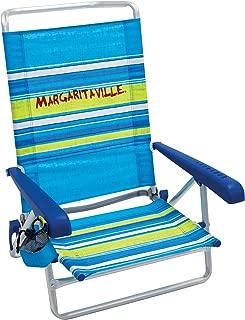 Margaritaville 5-Position Lay Flat Folding Beach Chair
