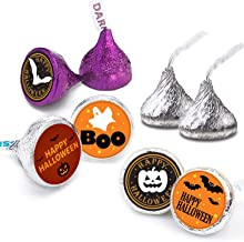 Happy Halloween Stickers For Kids Trick or Treat Party Decoration - Halloween Favor Labels -216 Count