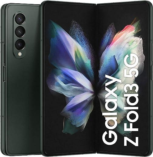 هاتف سامسونج جالكسي زد فولد 3 ثنائي الشريحة - 256 جيجابايت، 12 جيجابايت رام، 5G، أخضر (نسخة SA ) + غطاء قلاب مع S Pen