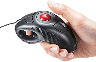 サンワダイレクト ごろ寝マウス 指輪マウス トラックボール 両利き対応 ケーブル1.9m カウント切替 400-MA083