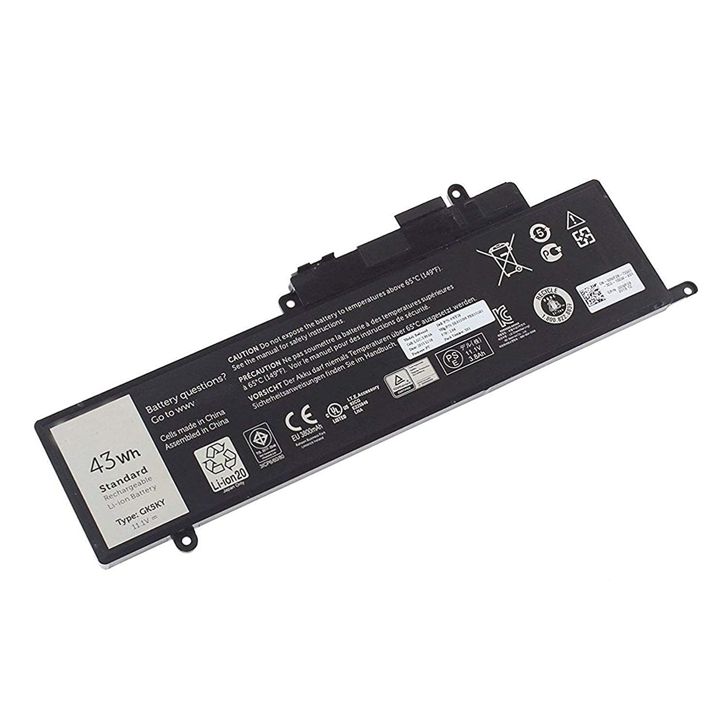 43Wh Laptop Battery for Dell Inspiron 11 3000 3147 3148 Inspiron 13-7347 13-7348 13-7352 GK5KY P20T 04K8YH 92NCT 092NCT 4K8YH