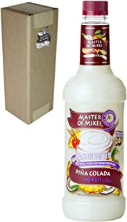 Master of Mixes Pina Colada Drink Mix, Ready To Use, 1 Liter Bottle (33.8 Fl Oz), Individually Boxed
