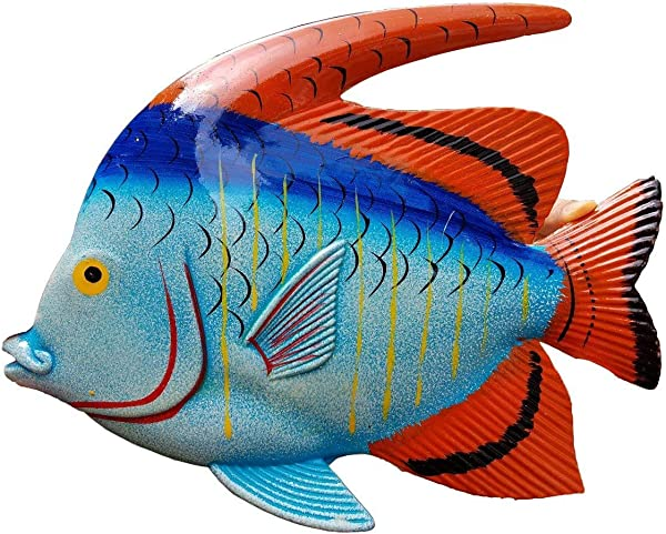 ALL SEAS IMPORTS Large 10 X 7 5 ACRYIC Resin Decorative Indoor Outdoor Tropical Fish Wall Decor