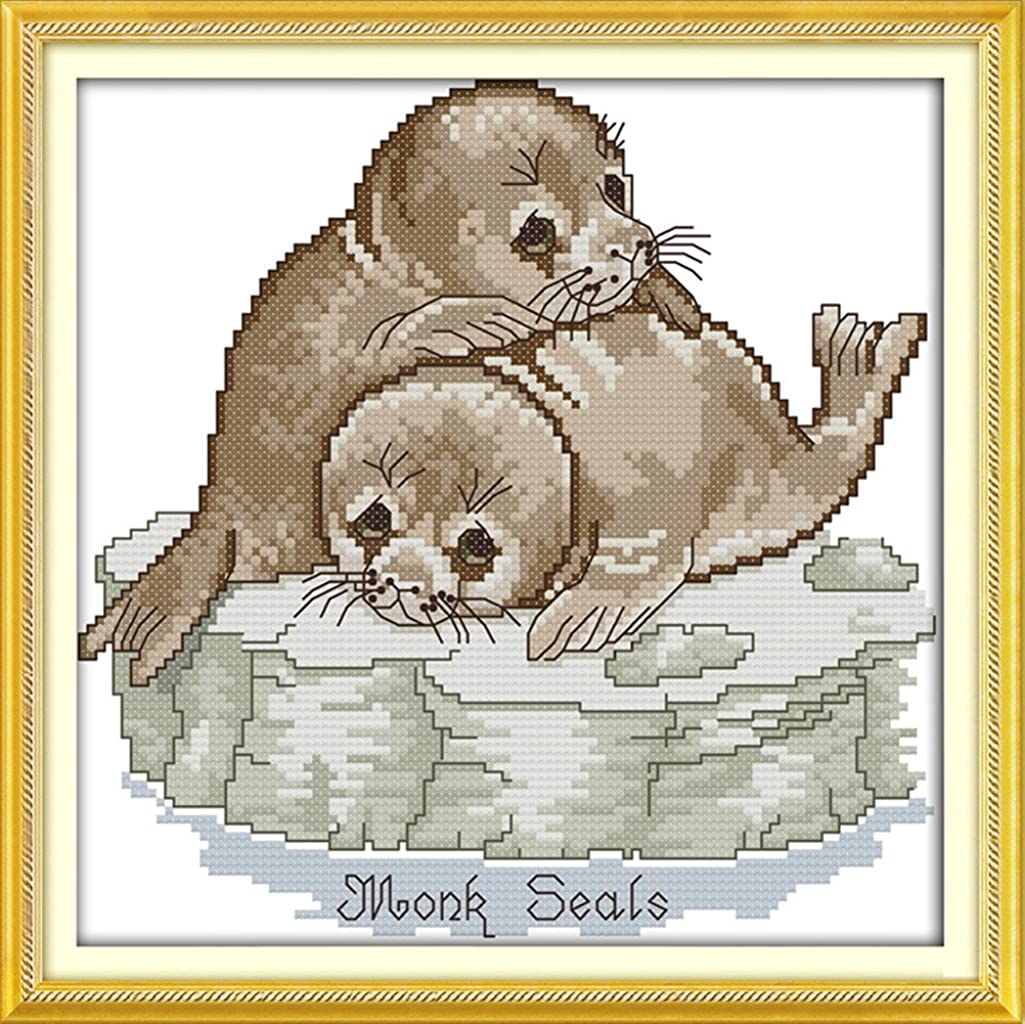 CaptainCrafts Hots Cross Stitch Kits Patterns Embroidery Kit - Sea Dogs (STAMPED)