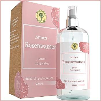 Grüne Valerie Reines Damaszener Rosenwasser Spray 300 ML ohne Alkohol & Konservierungsstoffe - Grade A + 100% Naturreine Lebensmittelqualität