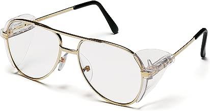 بيراميكس Pathfinder Aviator نظارة الحماية مع إطار ذهبي وعدسة شفافة
