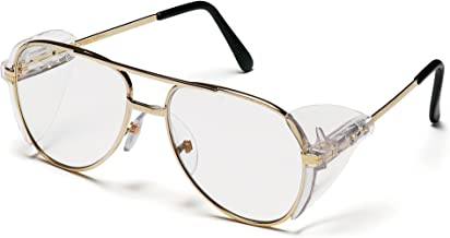 Pyramex Pathfinder Safety Eyewear Clear Lens With Gold Frame