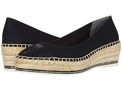 Tory Burch Color-Blocked 50 mm Espadrille (Perfect Black/Perfect Black) Women