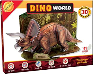 Cheatwell Dino World Triceratops Dinosaur 3D Model Jigsaw Puzzle