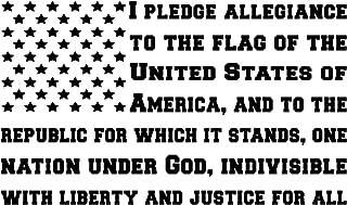 pledge of allegiance flag sticker