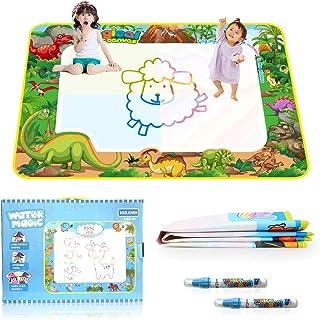 35pcs水で絵を描く 玩具 水ペン 4本付き スタンプ 水ペン5本付き スタンプ 特大 水で描く 知育おもちゃ 清潔安全 ぬりえ ラクガキ子供 おもちゃ 子供 誕生日 プレゼント おえかきボード お風呂 おもちゃ 水でお絵かき おもちゃ 玩具