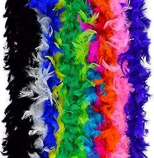 12pcs Assorted Colors Feather Boas, Women Girls Dress up Boa, Mardi Gras Boa Costume Party Accessory