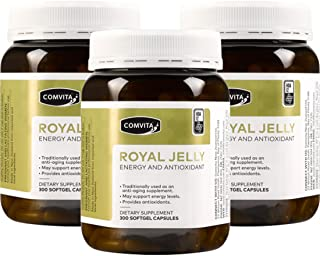 Comvita Royal Jelly 300 Capsules 1000mg Fresh Royal Jelly With 12mg 10H2DA (Pack of 3)