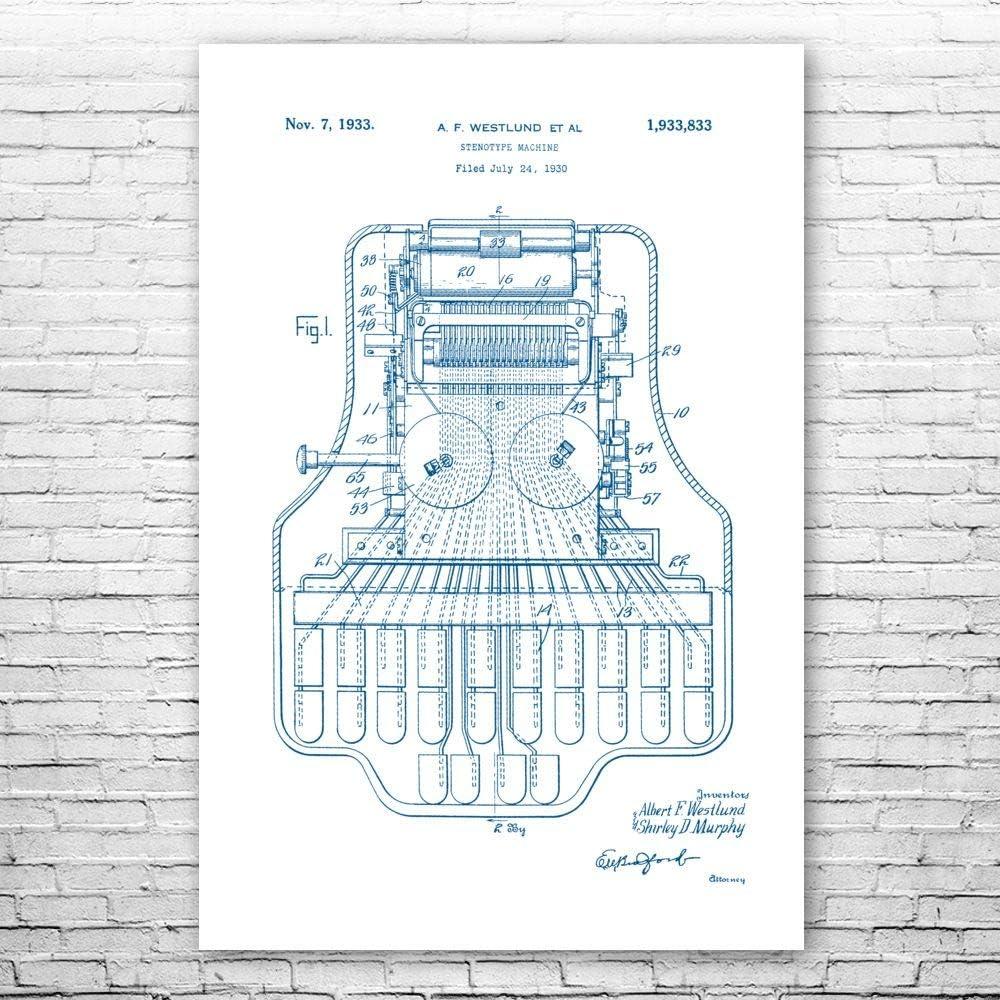 Court Reporter Stenotype お得クーポン発行中 本物 Poster Gift Print Stenographer Courtr