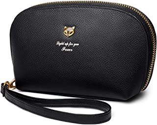 FOXER Women Genuine Leather Wallet Clutch Wallet With Wristlet Card Holder Evening Purse