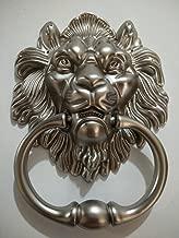 Lion Door Knocker Lion Head Beautiful Lion Mouth Accessories Gate Antique Silver