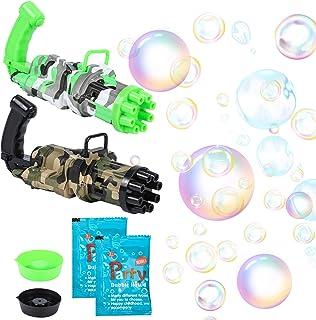 XJSGS Bubble Gun 2021 New Gatling Bubble Gun Camouflage...