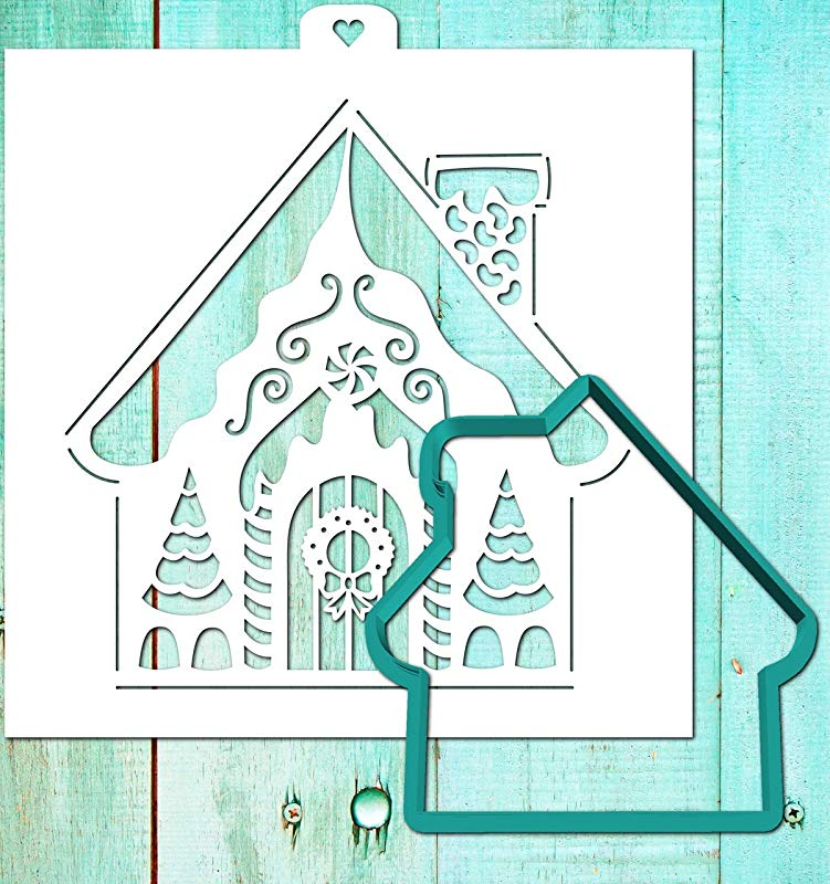 Cookie Cutter With Stencil Set NEW YEAR HOUSE 2