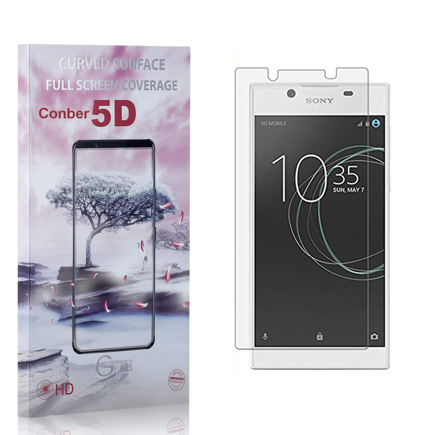 Conber 3 Pack Baltimore Mall Screen Protector for L1 Anti-Shatt Xperia Cash special price Sony