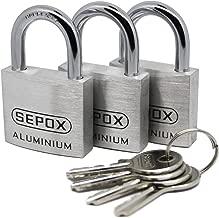 SEPOX Aluminum Alloy Padlock Keyed Alike with 30MM, 4Pack