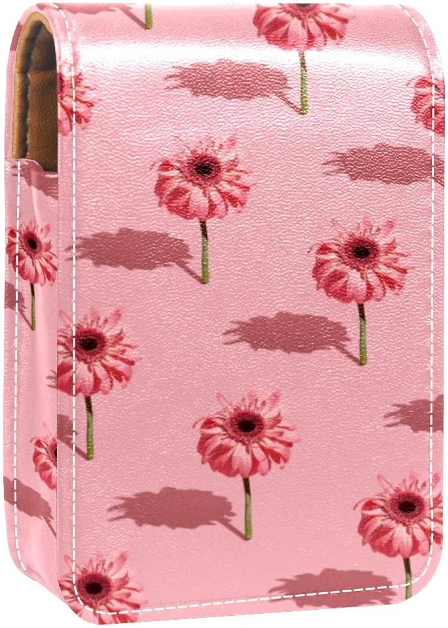 Lipstick Case Popularity Pink Flower Latest item and Prints Mini Holder Shadow