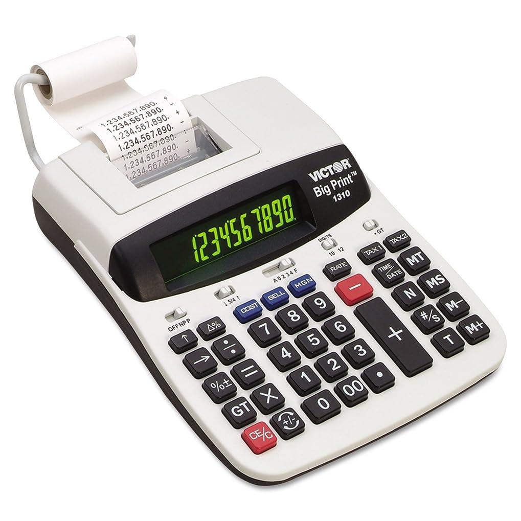 シェトランド諸島保護写真を描く1310?Bigプリント商用Thermal印刷電卓、ブラック印刷、6線/秒 1-Pack