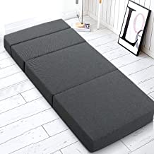Giselle Bedding Folding Foam Mattress Portable Sofa Bed, Dark Grey