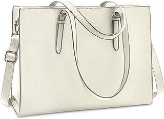 NUBILY Handtasche Shopper Damen Große Schwarz Handtasche Leder Umhängetasche Arbeitstasche Gross Laptop Business Schule Ta...