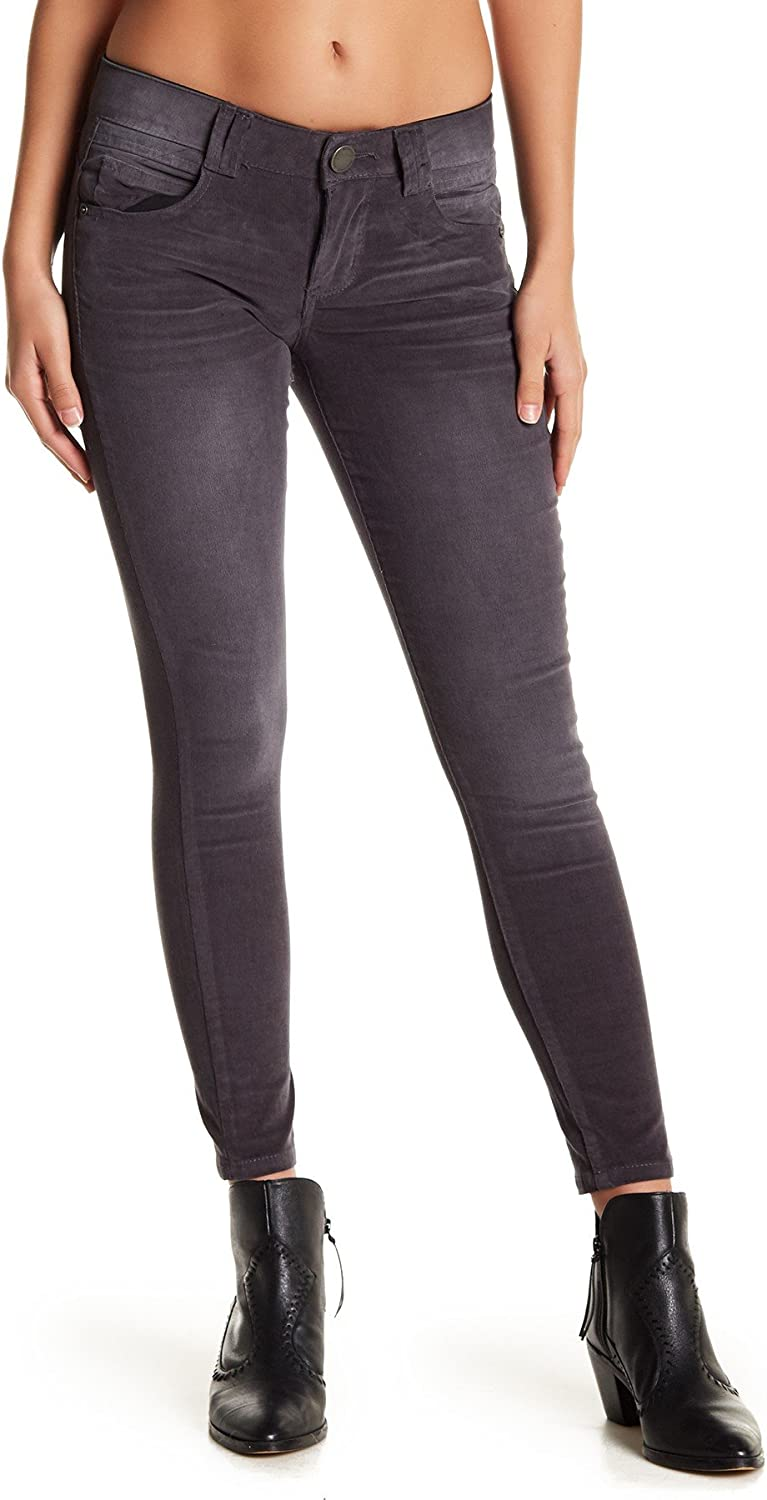 Democracy Ab Tech Corduroy Jeggings, Pewter, 12 Petite